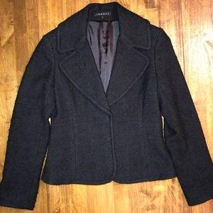 THEORY | Black Wool Boucle Blazer Jacket Size 8